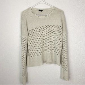 Theory Mesh Knit Cotton Sweater Medium